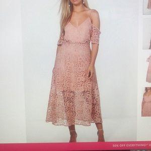 Crochet lace dress flowy